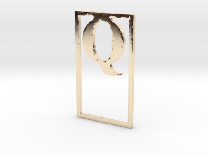 Bookmark Monogram. Initial / Letter Q 3d printed