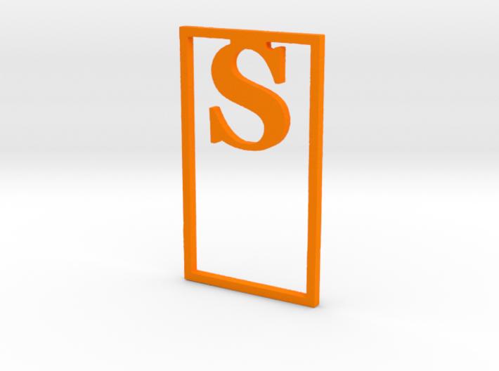 Bookmark Monogram. Initial / Letter S              3d printed