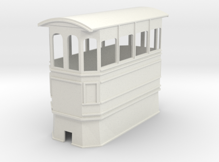 Kitson style covered steam tram 7mm narrow gauge 3d printed