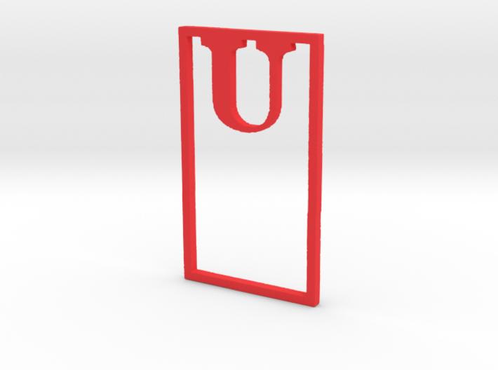 Bookmark Monogram. Initial / Letter U 3d printed