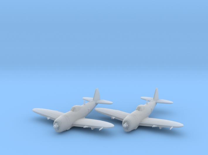 Republic P-47 'Thunderbolt' Bubbletop 1:200 x2 FUD 3d printed