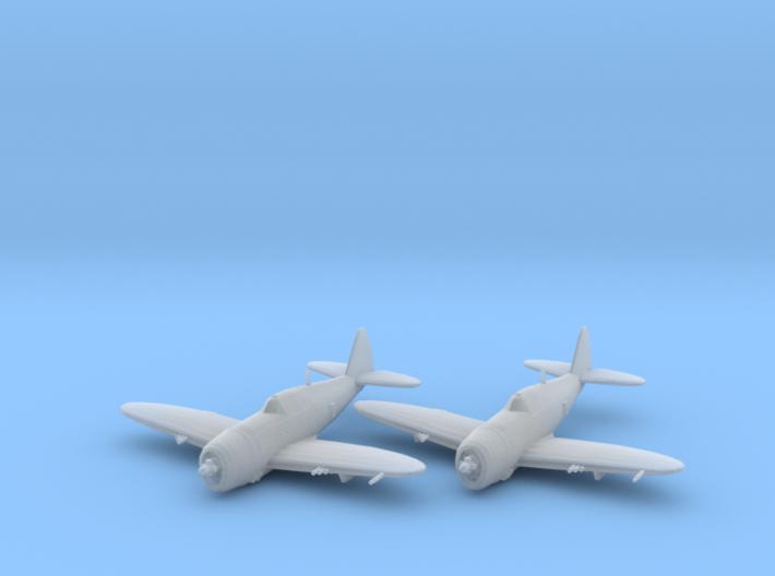 Republic P-47 'Thunderbolt' Razorback 1:200 x2 FUD 3d printed