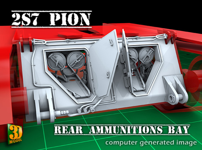 2S7 PION Ammunitions Bay (1:35) 3d printed 2S7 PION Ammunitions Bay