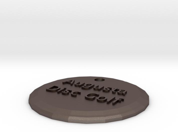 Augusta Disc Golf keychain 3d printed