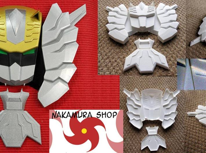 Gosei Knight 3d printed white plastic painted