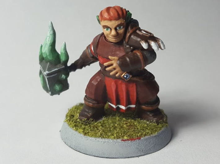 Dwarf Druid 3d printed Finished model painted using acrylic paints.