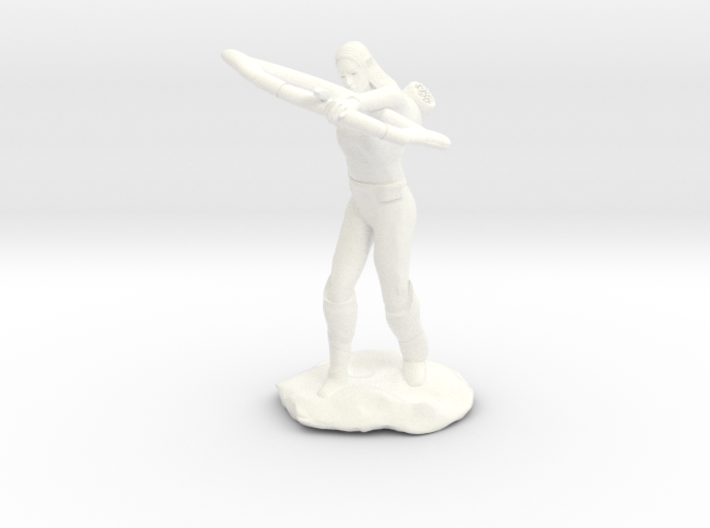 Elf Ranger with Longbow 3d printed