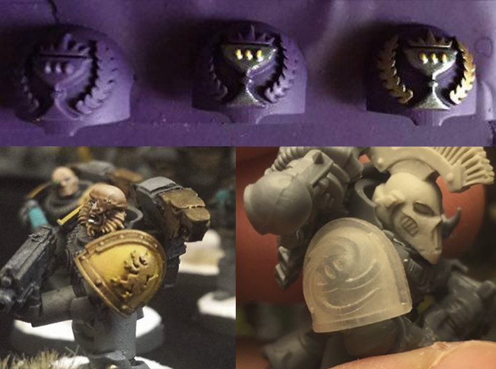 Iron Wolves - Gen3:Iron Right Shoulder x10 3d printed