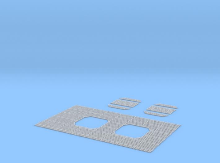 DeAgo Millennium Falcon floor grille + covers ESB 3d printed