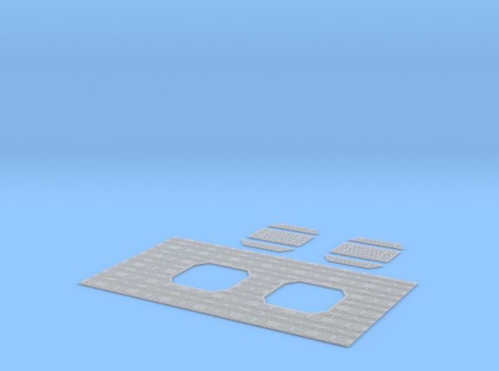 DeAgo Millennium Falcon floor grille + covers TFA 3d printed