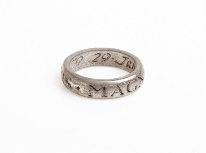 Sir Francis Drake Ring - Uncharted 3 Version 3d printed U3 ring in polished nickel steel