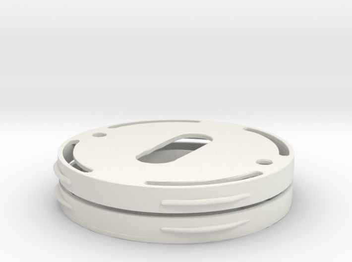 Flange for invisble mounting of metal escutcheons 3d printed