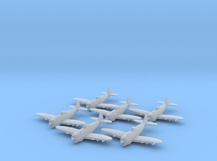 Republic P-47 'Thunderbolt' Bubbletop 1:285 x6 FUD 3d printed