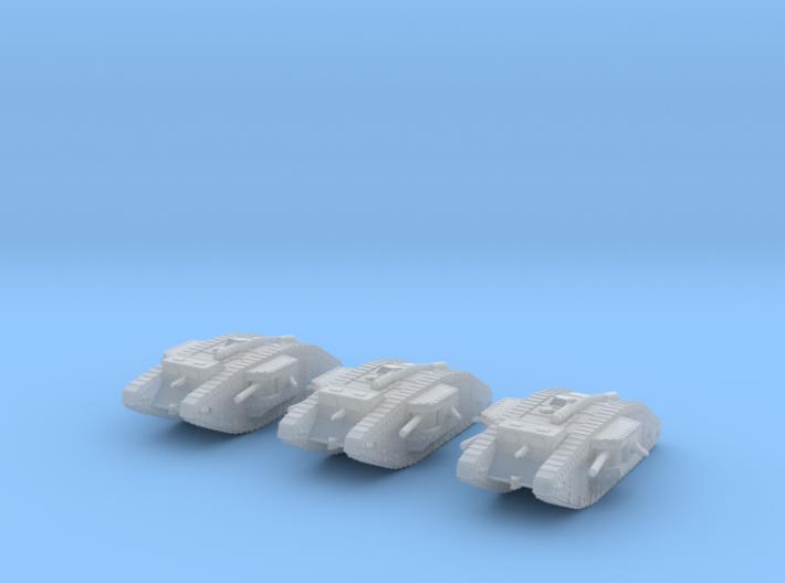 1/220 Mk.IV Male tank 3d printed