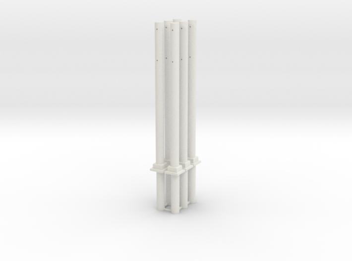 Betonmast V3 Abspannmast 6fach 3d printed
