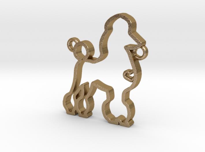 Poodle pendant 3d printed