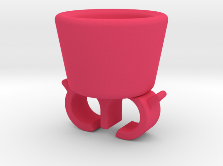 Nail polish holder ring 3d printed