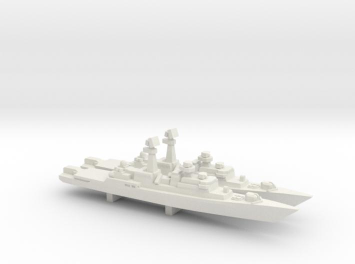 Neustrashimyy-class frigate x 2, 1/1800 3d printed
