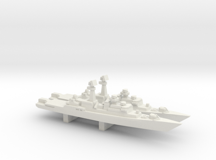 Neustrashimyy-class frigate x 2, 1/2400 3d printed
