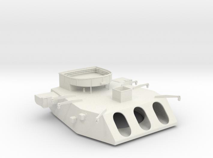 1/144 Iowa Class Turret 3d printed