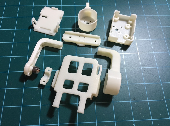 RunCam2 Gimbal Camera Housing V2 3d printed Combination of product