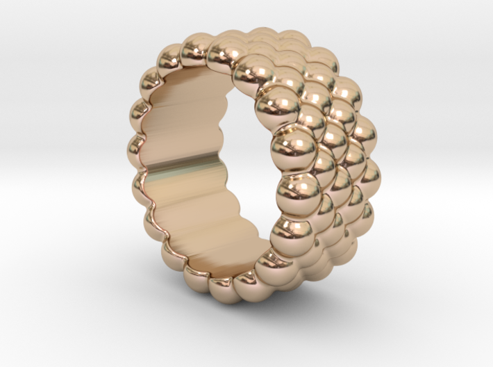 Bubbles Round Ring 17 – Italian Size 17 3d printed