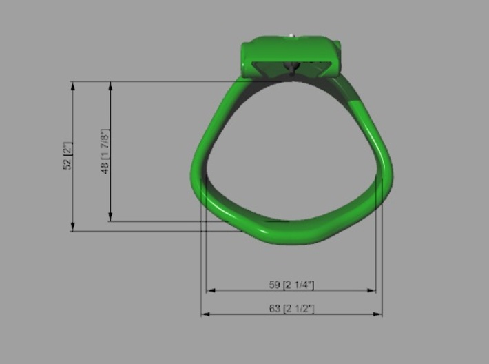Special Back KHD X3 espr Ring Middle 40-45mm Round 3d printed