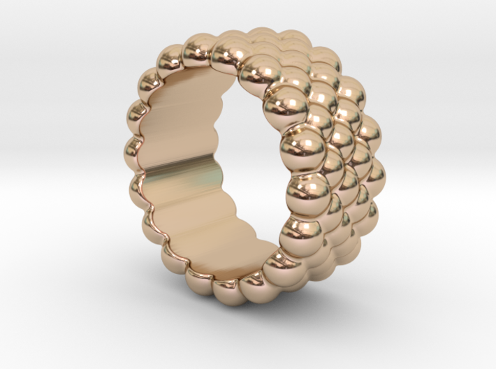 Bubbles Round Ring 29 – Italian Size 29 3d printed