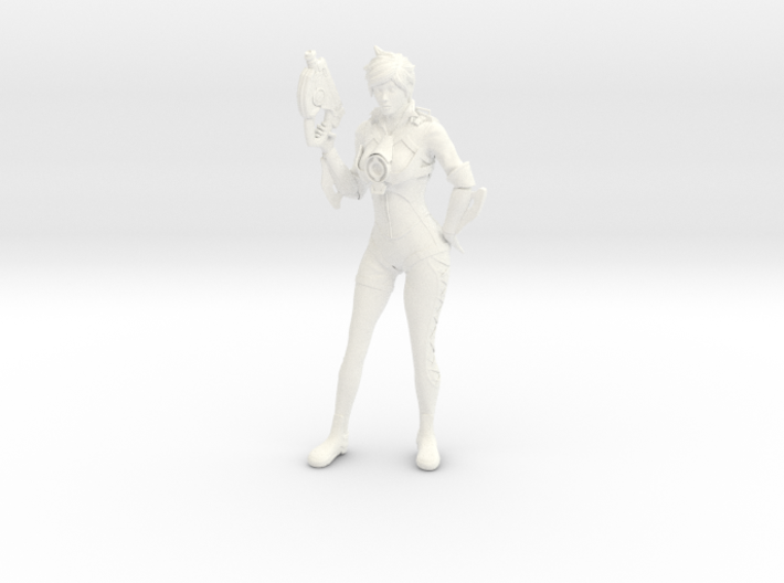 Tracer Statue 3d printed