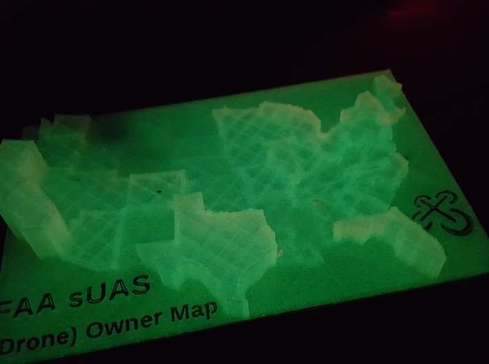 US Drone Owner Heightmap 3d printed