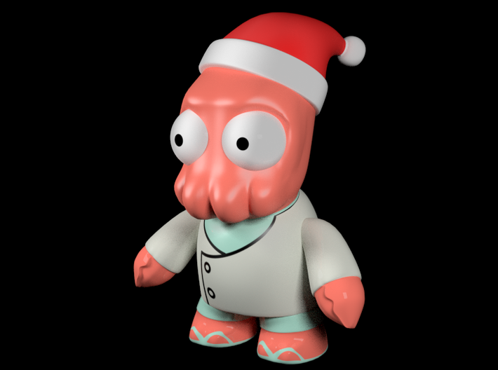 Zoidberg Christmas 3d printed Blender Render