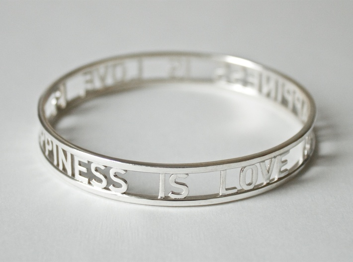 LOVE IS HAPPINESS IS LOVE - simple 3d printed