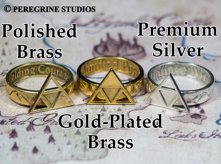 Ring - Triforce of Courage 3d printed