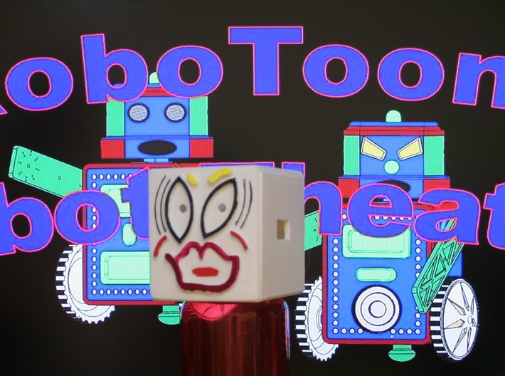 MiniFloppyBot KIT 3d printed Yes we are characters in Robot Theater