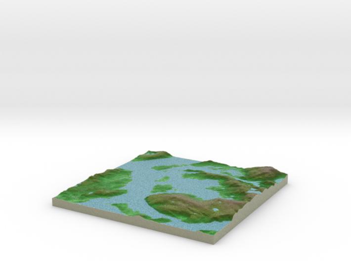 Terrafab generated model Sat Jul 02 2016 07:33:50 3d printed