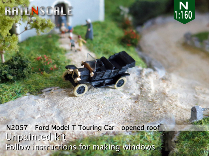 Ford Model T - opened roof (N 1:160) 3d printed