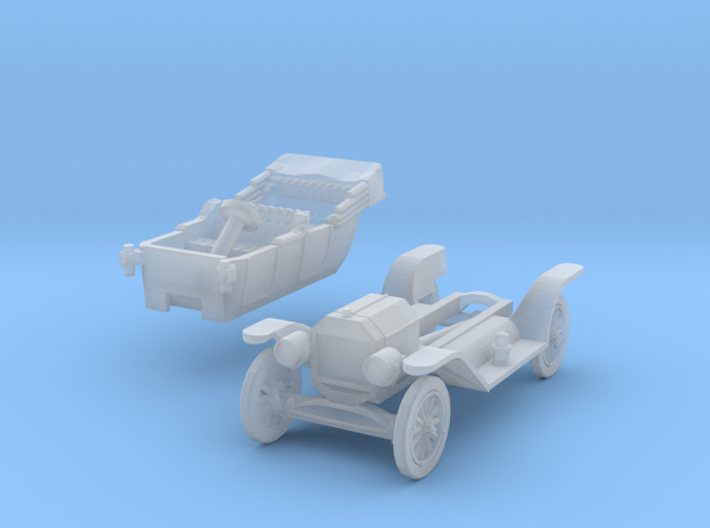 Ford Model T - opened roof (TT 1:120) 3d printed