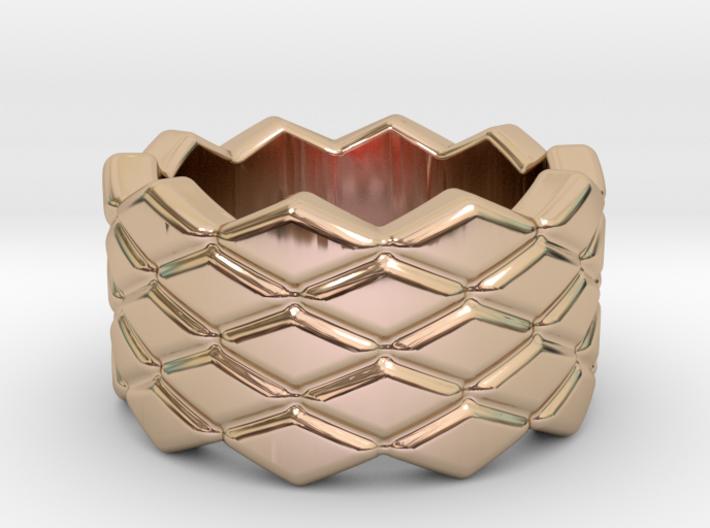 Rhombus Ring 32 – Italian Size 32 3d printed
