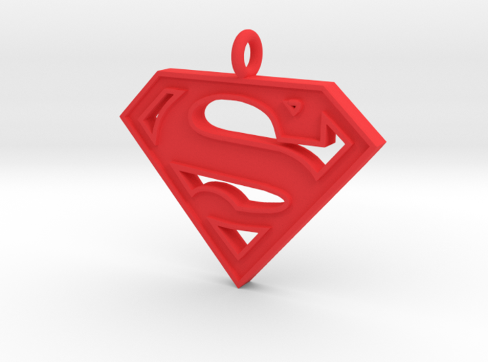 Superman Necklace 3d printed