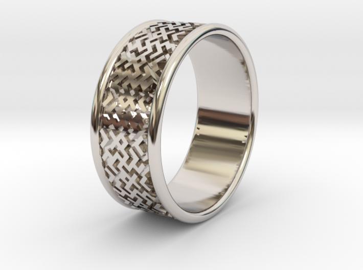 Wedding ring Slavic style 3d printed