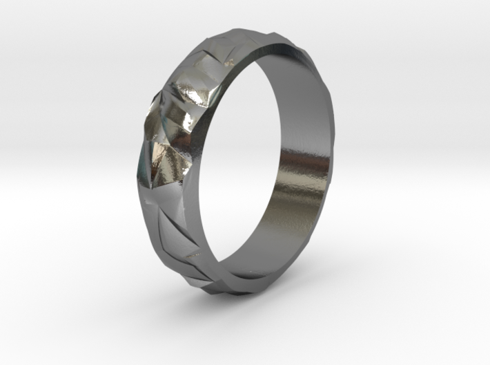 Ice silver ring 3d printed