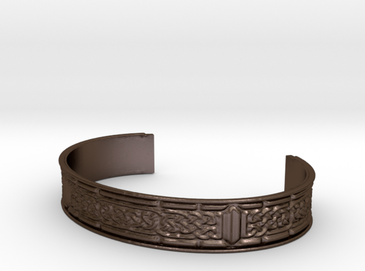 Celtic Ribbon Bracelet (13mm) 3d printed