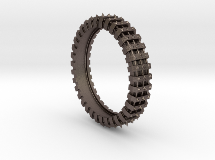 Spiked Gear Ring - Size 8 3d printed