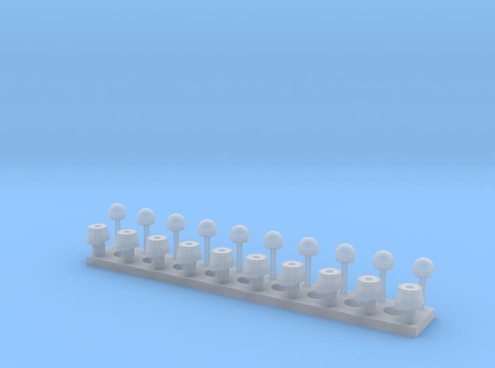 Standardblaulicht-mit Chromring + Untersockel 3d printed