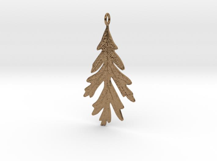 Oak Leaf Pendant 3d printed
