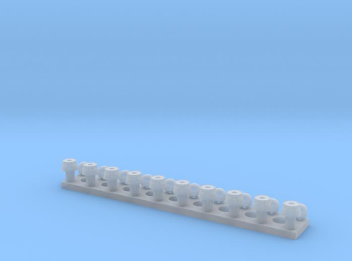 Standardblaulicht mit Chromring 3d printed