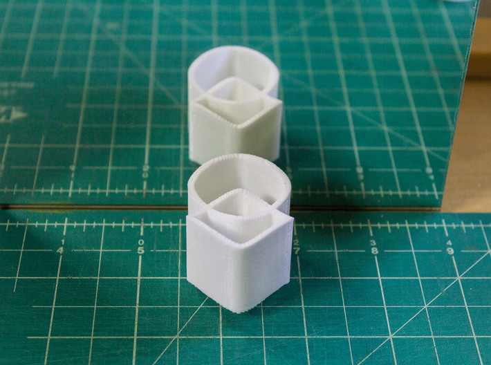Ambiguous Cylinders : Overlap 3d printed