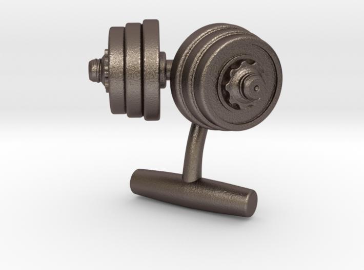 Dumbbell Weights Cufflinks 3d printed