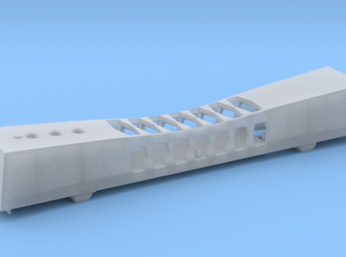 1/426 USS Arizona Memorial 3d printed Assembled model.