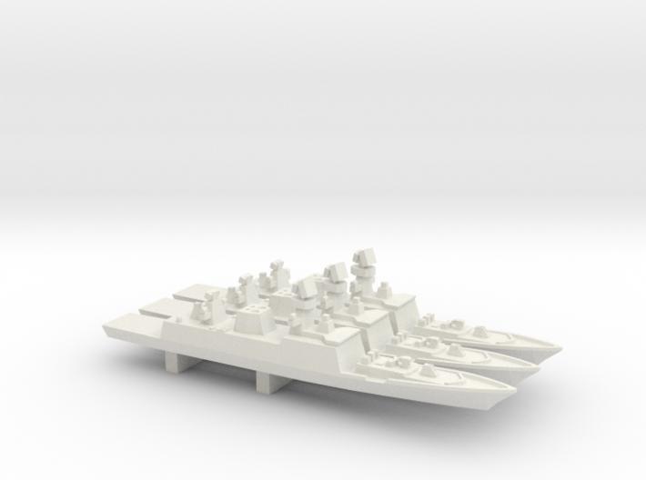 Shivalik-class frigate x 3, 1/2400 3d printed